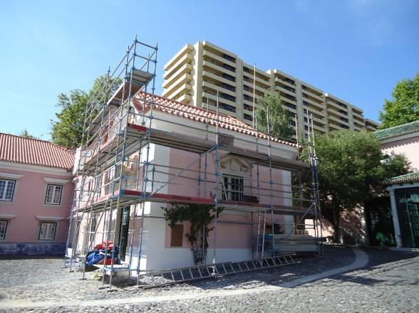 Aspeto final das coberturas e fachadas intervencionadas